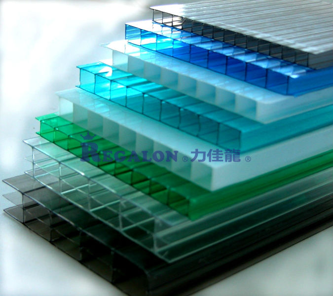 Flexible Clear Plastic Sheets Double layer Polycarbonate sheets