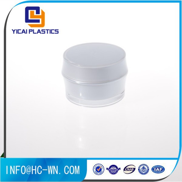 White Cosmetic Plastic Drum Shape Acrylic Jar Wholesale