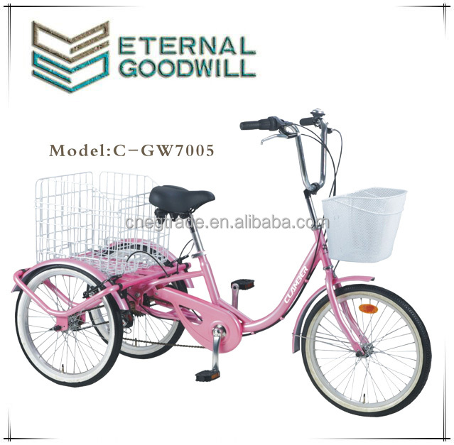 GW7005 adult cargo bike triciclo for euro market