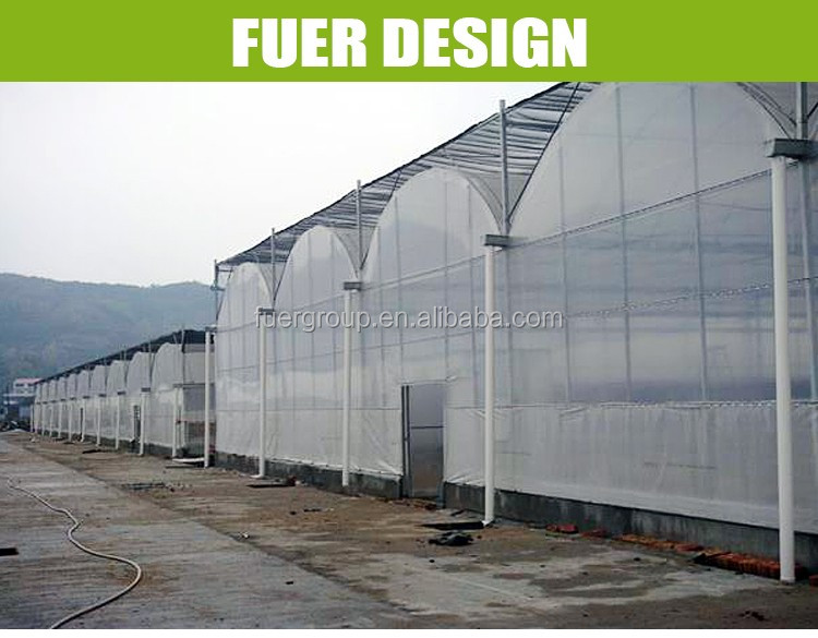 uv plastic greenhouse steel structure system