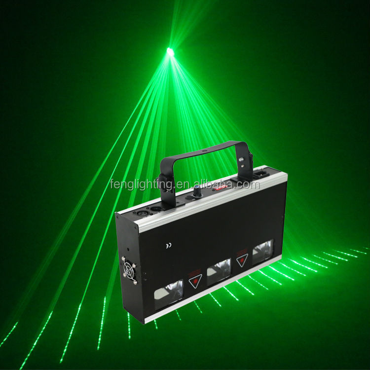 DJ used 3 led head disco light Dynamic lighting effect laser