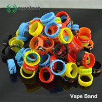 UK shop most like hot sale decorative and protection silicone vape band, unique you logo or words