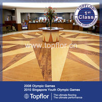 Maple Wood Pattern Vinyl Tiles Safety Flooring For Company