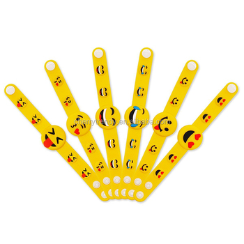 Emoji Rubber Bracelet Party Favors Emoji PVC Wristband