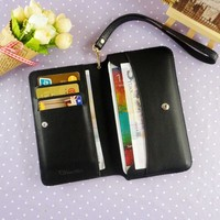 Note 3 phone case multi-function wallet for samsung galaxy note 3 PU leather flip cover with card slots wholesale