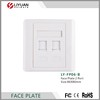 LY-FP06-B alibaba Standard 2 port RJ45 RJ11 network faceplate