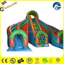 cheap commercial giant inflatable adult slide, inflatable jumping slide for sale