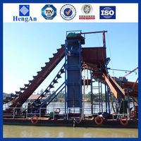 Good performance bucket chain gold dredger for sale