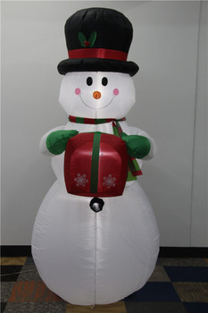 Standing snowman with light and carry gift 2017