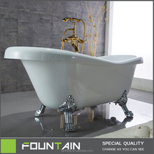 CUPC High Quality Solid Surface Bathtub with Legs in White Indoor Acrylic Bathtub with Overflow Modern Freestanding Bathtub