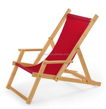 Competitive Price Outdoor wood folding beach deck chair for sale