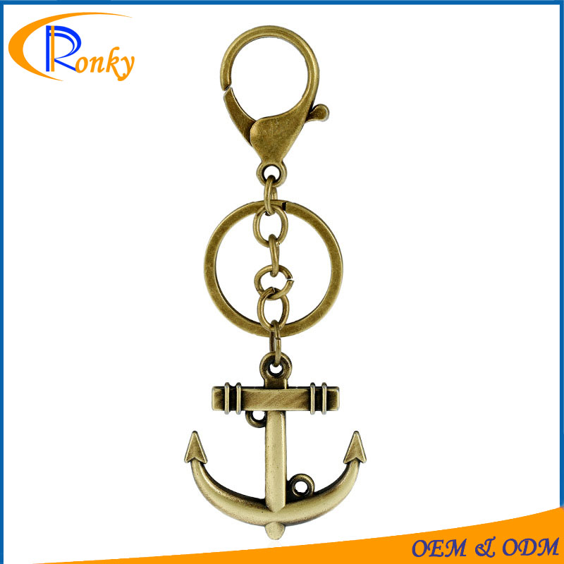 Trendy hardware items pictures antique anchor keychain gifts