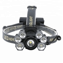 2019 New Product 10000 Lumen LED Headlamp T6 High Power Zoomable Head Lamp Torch Light USB Charging