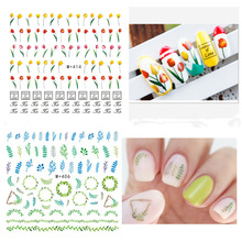 Wholesale New Japanese Nail Art Ornaments Nail Flowers Watermark Stickers Stereo Aesthetic DIY Nail Stickers