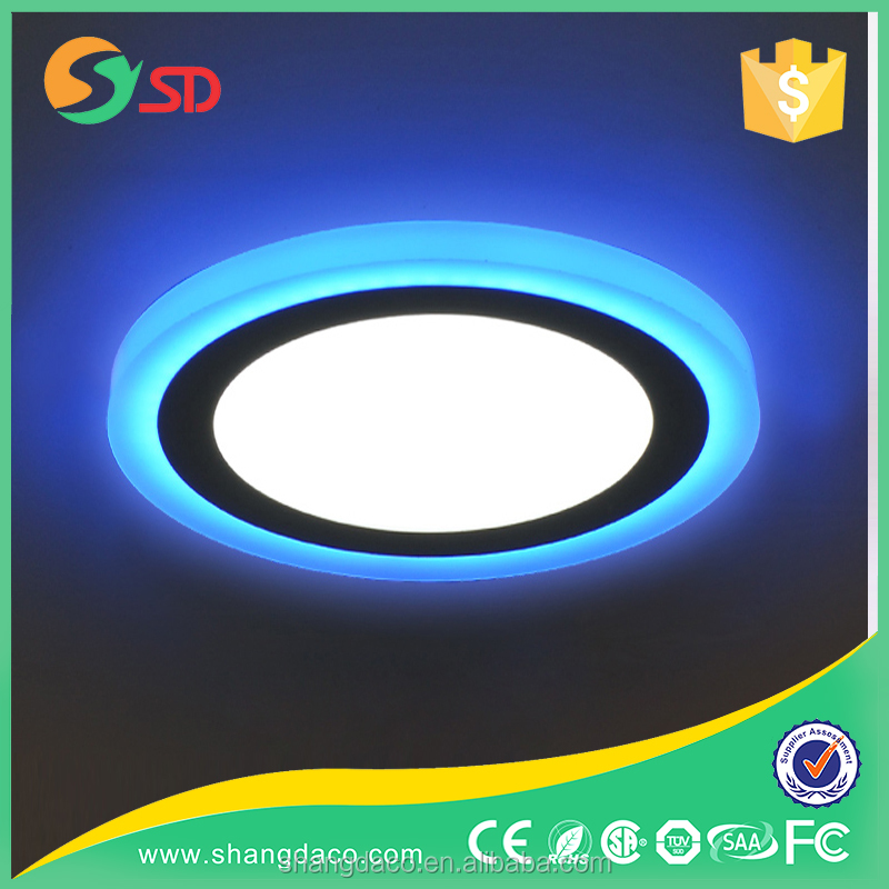 SHANGDA double Colors Round Glass ceiling led light modern led ceiling light