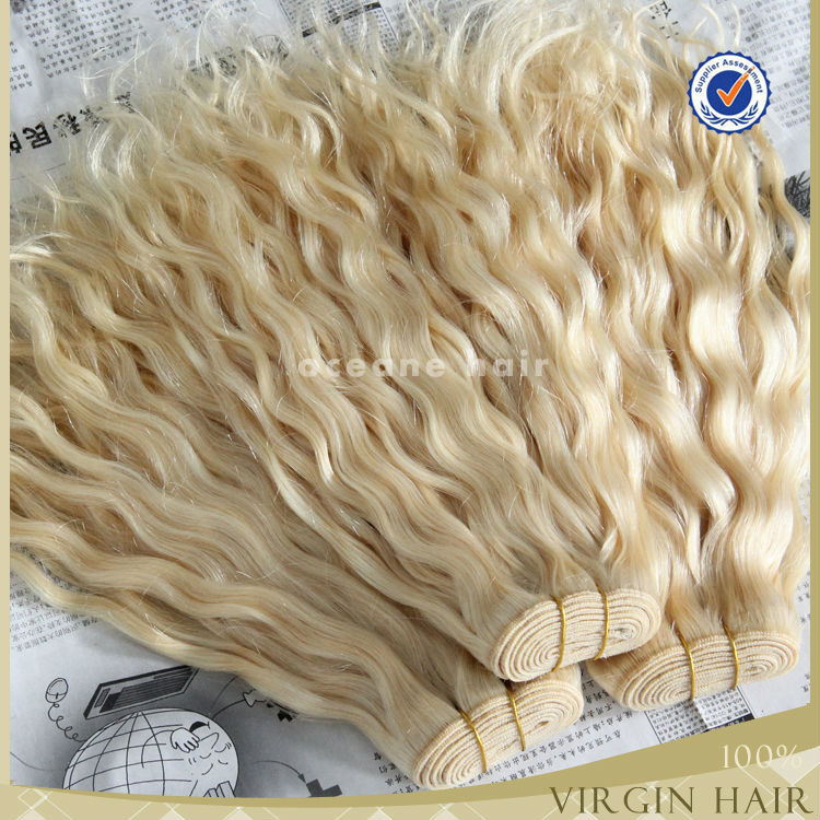 Hot sale!!!aliexpress hair 6A different types of curly hair blonde
