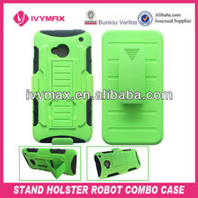 new products kickstand robort cell phone case for htc one m7