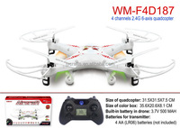 WM-F4D187 2.4Ghz 4ch 6 Axis gyro rc Drone model king toys