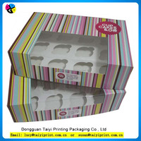 Custom Design Matt Laminated Art Paper Magnet Cupcake Paper Box