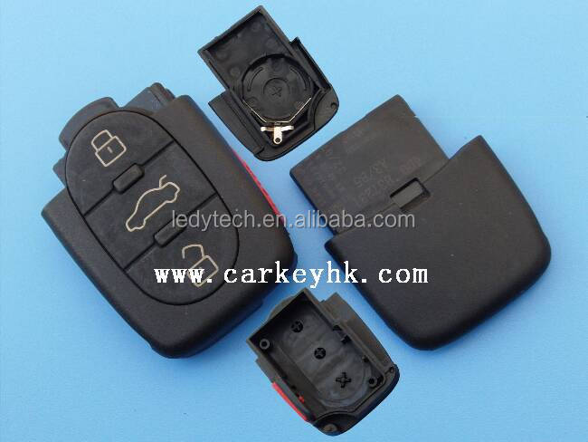 Sales Promotion 3+1 buttons remote key cases cover blank remote key fob control with 2032 battery(no blade)