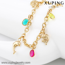 74580-Xuping New ocean style dolphin fish copper alloy bracelet
