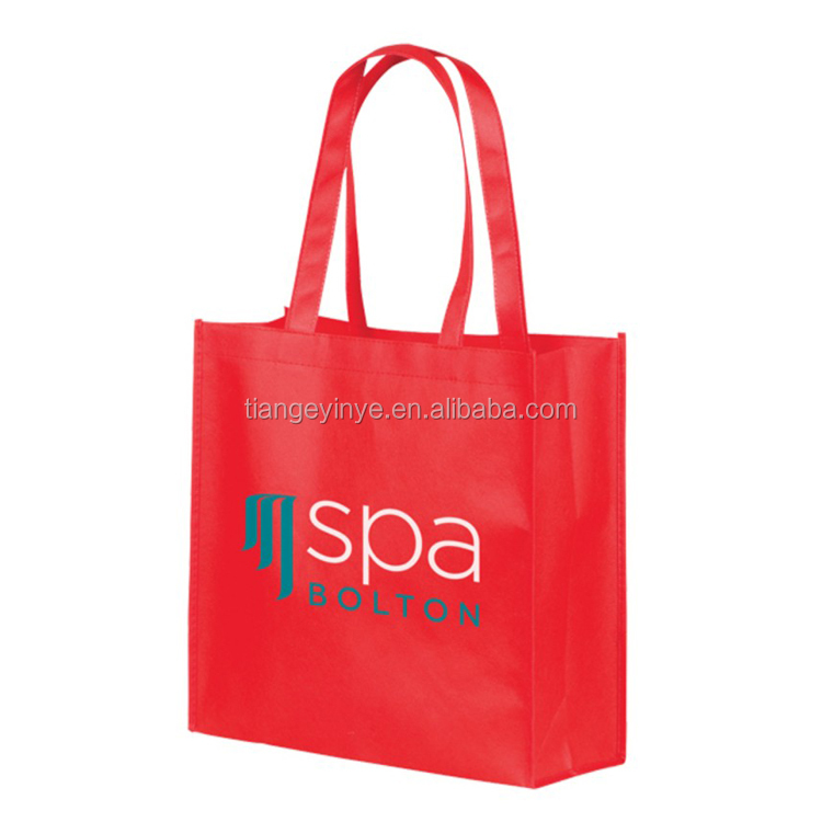 Customized Non Woven Shopping Bag Logo Printing Non Woven Bag With Tote