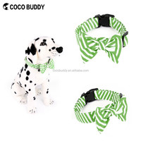 Bright and smooth 100% Cotton Canvas Bow Tie Dog Collar Pet Supplies