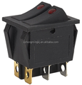 double pole double button on-off rocker switch