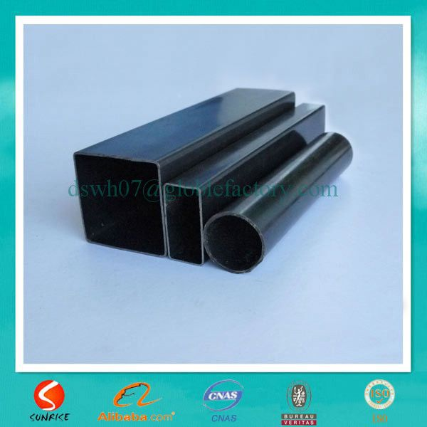 alibaba china q195 low carbon black rectangle ms tube size price per ton