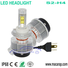 MACAR fanless S2 New high power led auto h4 12v 100w for bmw headlight