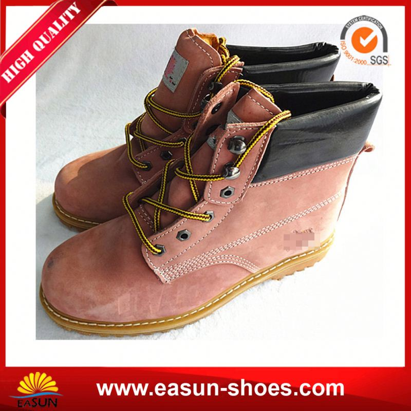 safety footwear ladies work boots Nubuck Leather fashionable work shoes for women