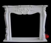 Marble electric fireplace mantel