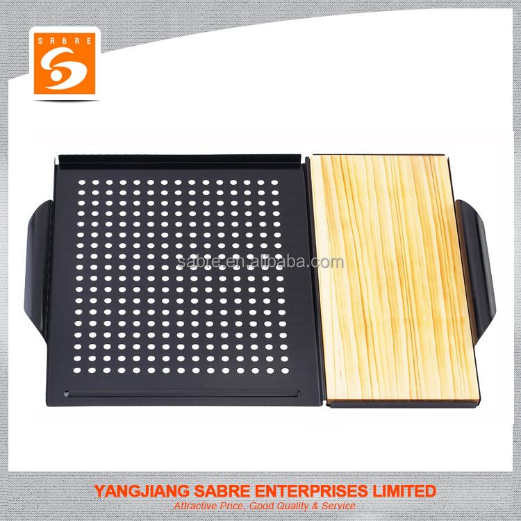 2016 Hot selling Combination Grilling Grid & Plank Saver