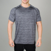 mens breathable stretch polyester blend fitness shirt