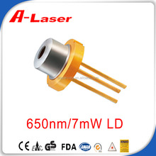 High Reliability 650nm 7mW 70 Temperature Red Laser Diode
