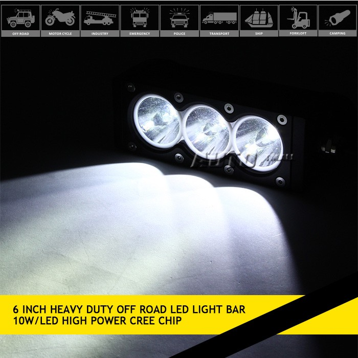12 volt led light bar 4x4 30w alumium housing led light bar offroad for trucks,auto parts