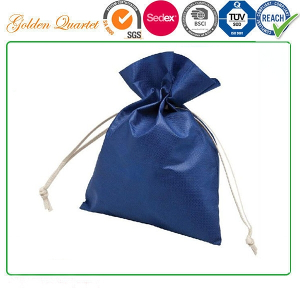 pp cord drawstring nonwoven gift bag, fabric gift pouch