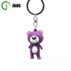 Custom business promotional gifts bear shape soft PVC key chain