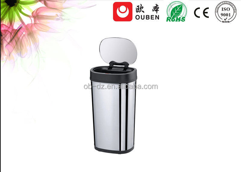 Intelligent stainless steel sensor cheap recycle bin 50L