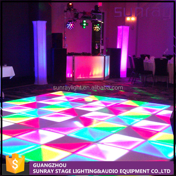 Interactive Disco Night Club Used Portable 30 Channels Slave Control Led Cheap Dance Floor For Sale