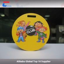 Punched hole RFID plastic hang tags for clothing