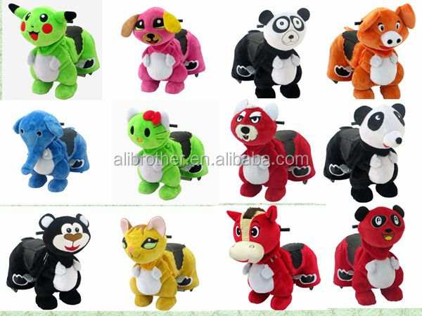 Amusement equipment kids playground Plush Riding Animals Battery Animal Walking