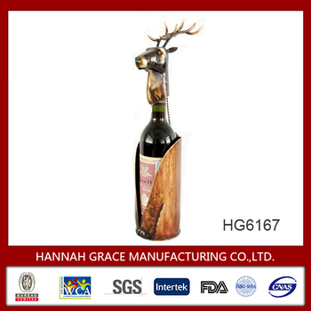 Reindeer metal single bar bottle rack