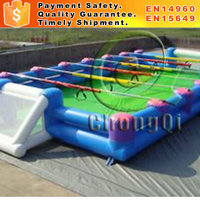 Inflatable human foosball court for sale inflatable human foosball