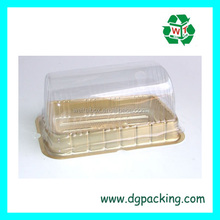clear plastic bread packaging Box&Cake dessert tray with transparent lid
