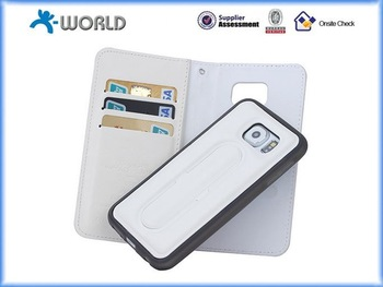 Brand New PU Leather Wallet Case for Samsung S6 made in China