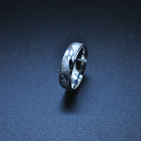 Fashion Rhodium Plated Silver jewelry ring for men and women