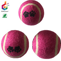 Custom Mixed colors printed pet toy dog elastic ball