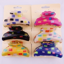 Wholesale many kinds of plastic korean hair claw clip/decorative hair claw clips/hair clips channel