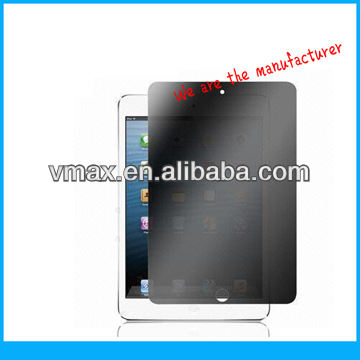 Anti-spy screen protector for iPad mini oem/odm (Privacy)